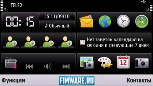 Прошивка для Nokia 5800 T-ReX Mod 4.0 C6v115800v51