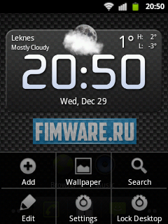 Прошивка для HTC Tattoo Android Gingerbread 2.3.7 н...